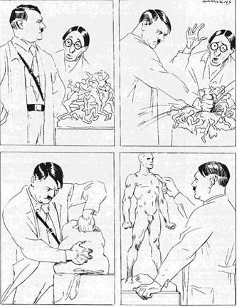 Hitler vignetta Garvens